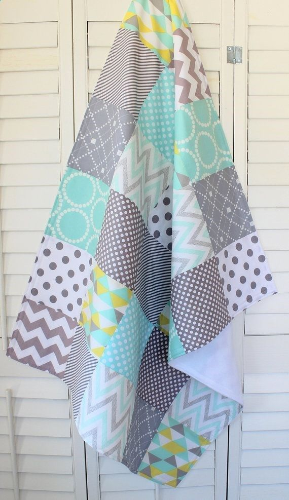 f468f4cb36501 Baby Blanket, Nursery Crib Bedding, Patchwork Baby Quilt, Baby ...