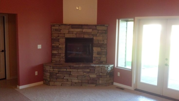 Corner Stone Fireplace | Home ideas | Pinterest