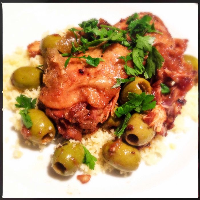 Middle-Eastern comfort food! Chicken, preserved lemon and olive tagine - Sabrina Ghayour. Paleo, gluten-free, banting, dairy-free.