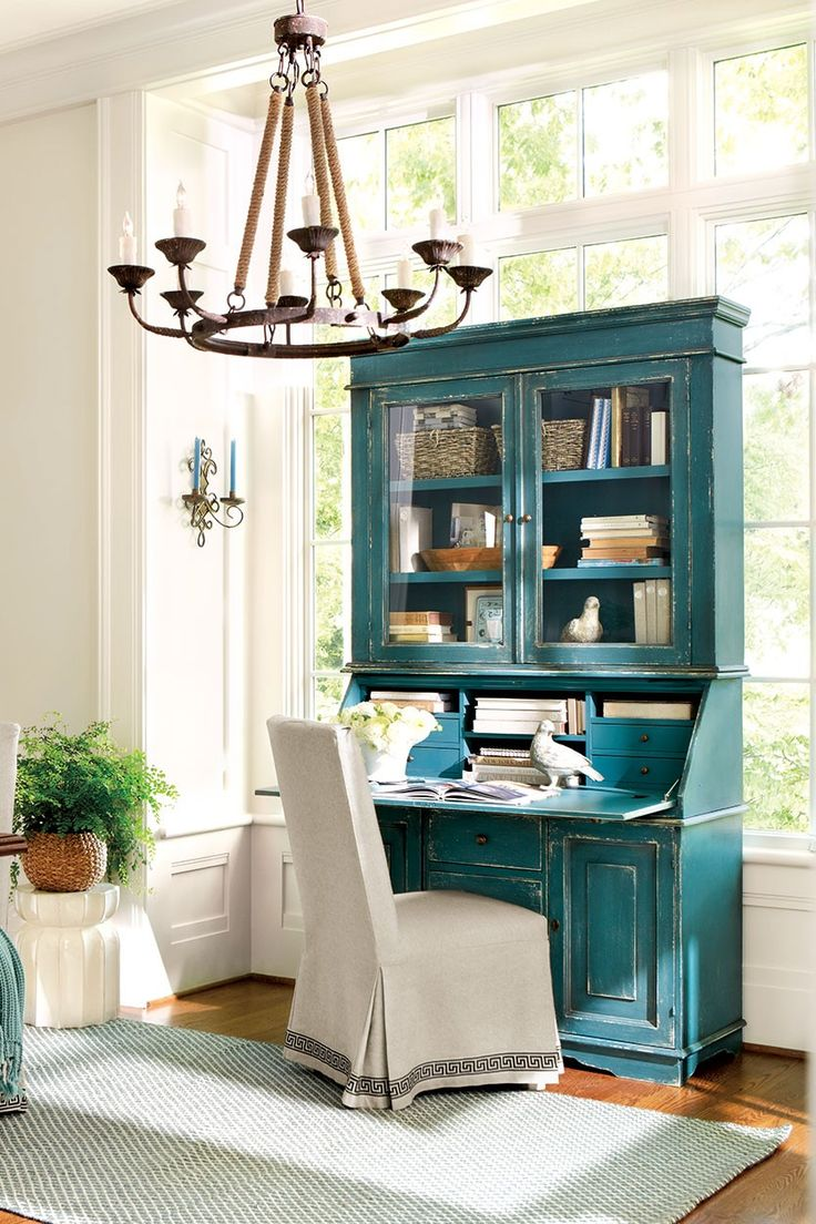 Ballard Designs Casa Florentina San Marino Secretary Desk with Hutch