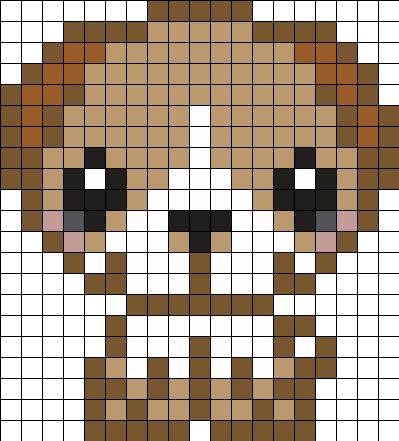 Puppy Perler Bead Pattern