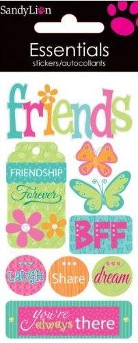 Friends 3D Handmade Essentials Scrapbooking Stickers