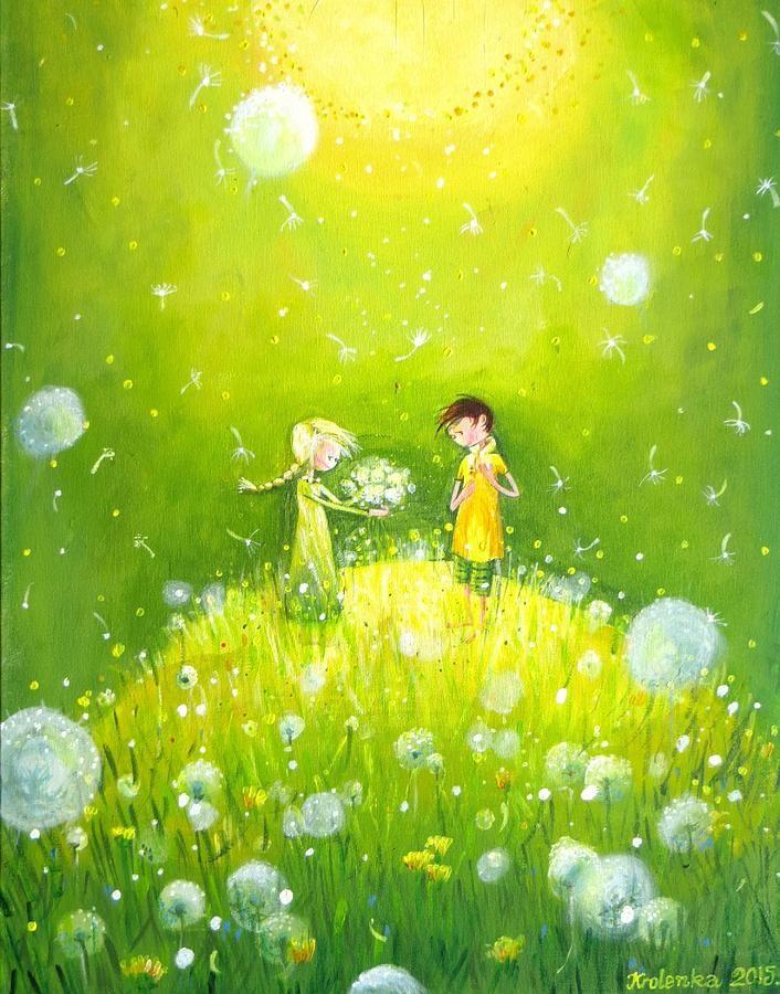 Make A Wish Painting - Make A Wish by Alexandra Krasuska