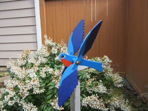 Blue Bird Whirligig by dhenterpris on Etsy, $23.00