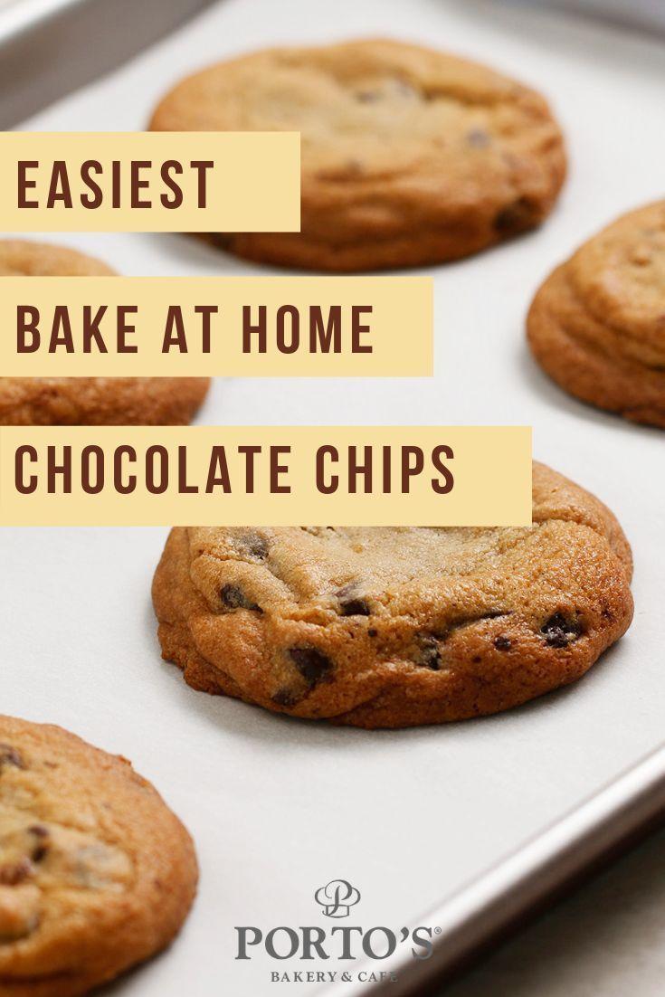 Chocolate Chip Cookies Porto S Bakery Chocolate Chip Cookies Chip Cookies Easy Baking