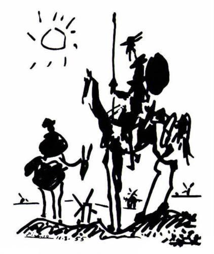 Don Quixote - Pablo Picasso - love this.