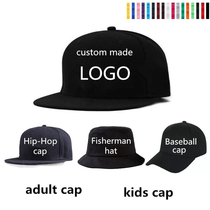 Adult Children Custom Baseball Cap LOGO Embroidery Kick Hat 3D Custom Hat Wedding Class Collective Hat Wholesale