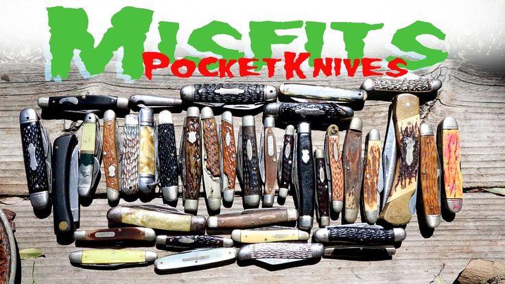 """Pocket Knife """"Misfits"""" Ugly, Used, Broken Blades, Broken Scales Vintage"""