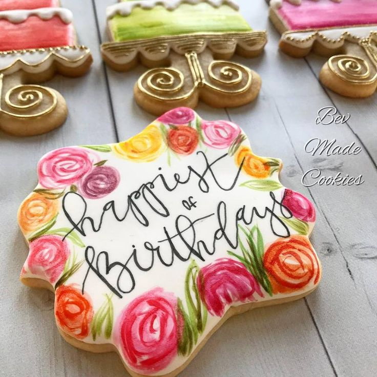 557 Best Birthday Cookies Images On Pinterest