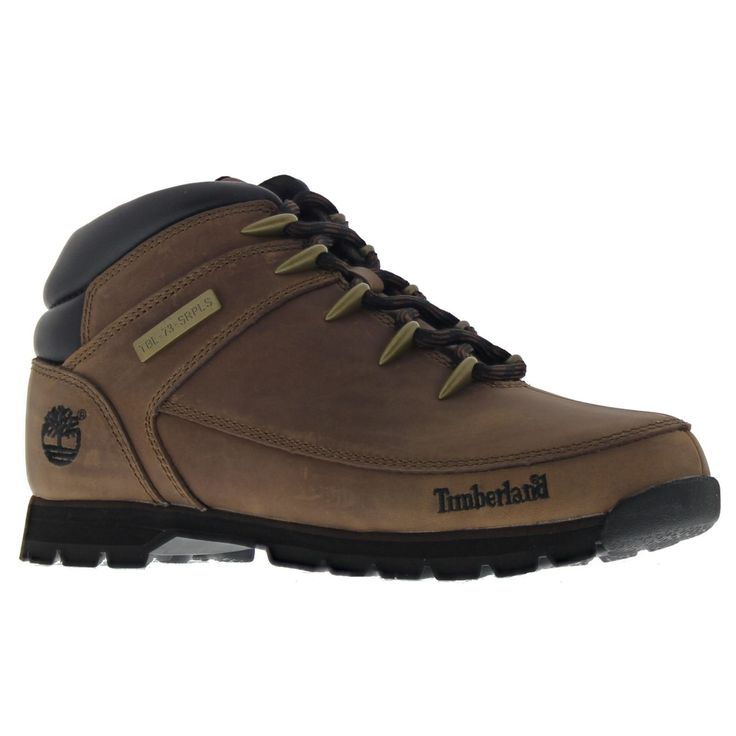 Timberland Mens Euro Sprint Hiker Brown Leather Boots 9 US