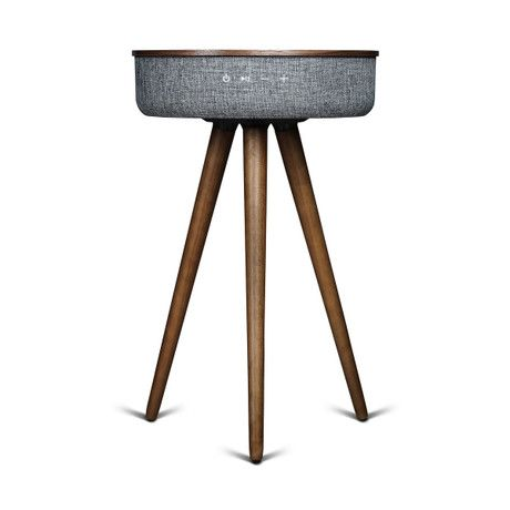 Studio Smart Table // Built In 360° Bluetooth Speaker + Wireless Qi Charger