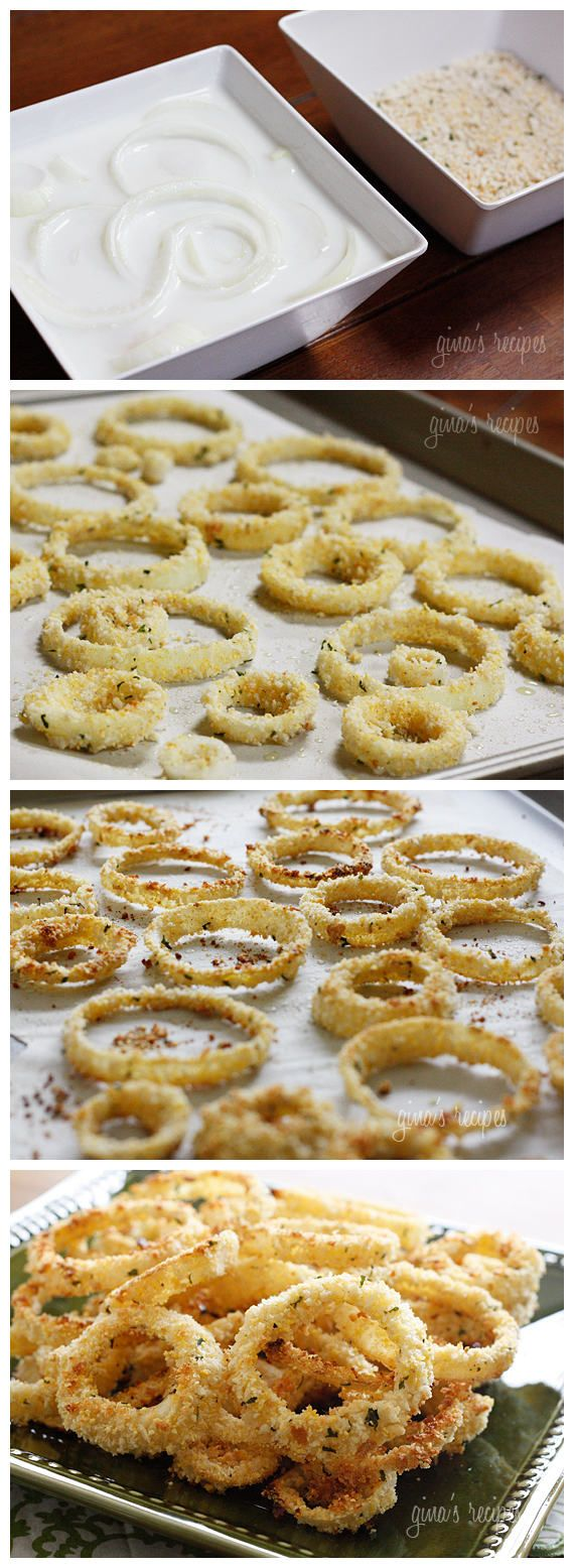 Low Fat Baked Onion Rings [Hated making these, hard to keep the breading on, and didn't enjoy them either]