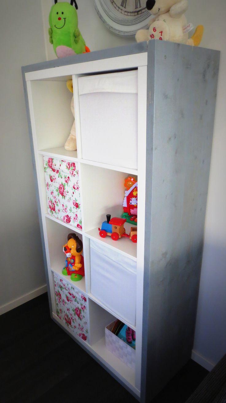 Ikea kast gerestyled met steigerhout