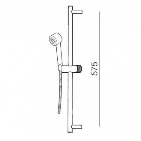 84.16€ Kit de ducha barra Tekno con accesorios Tekno. Acabado Cromo, Cromo-mate o Níquel.