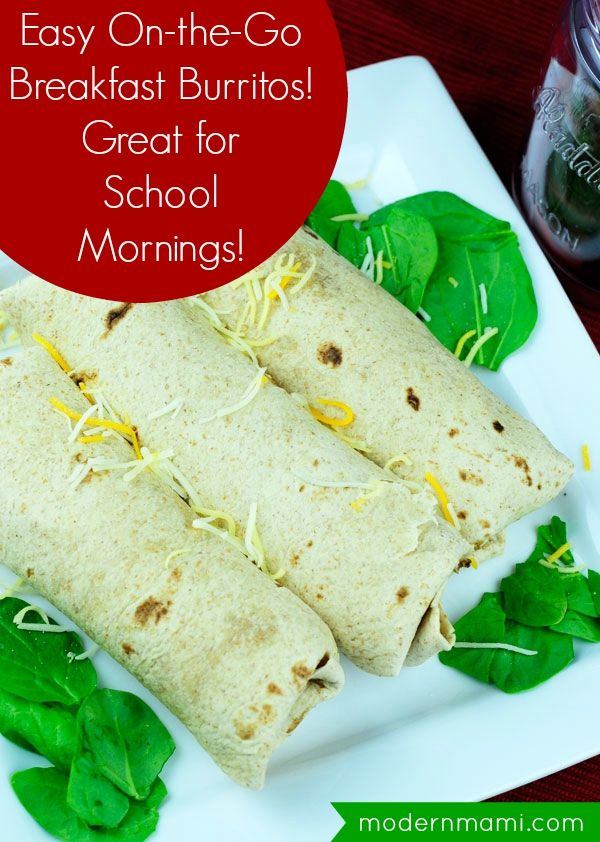 Super Easy On-the-Go Breakfast Burritos, Perfect for Back ...