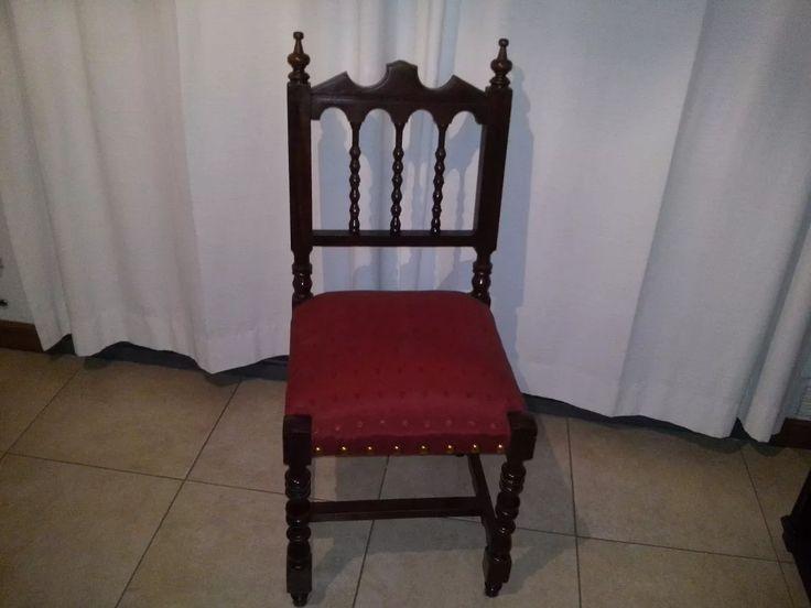 sillas estilo español en cedro