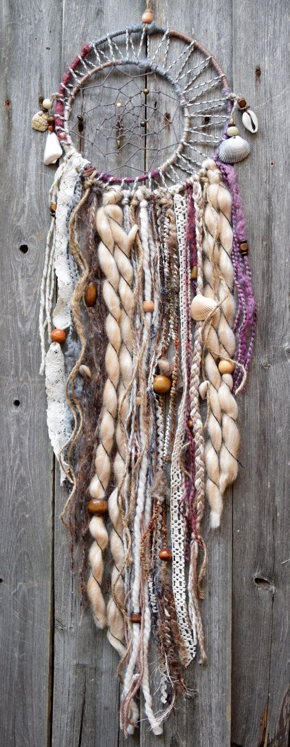 Large Double Dreamcatcher Sea Shell Dream by VagaBoundPeople