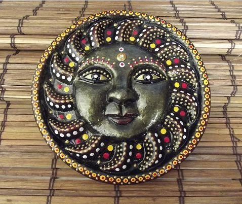 paintedEarth.in | Sun Mask Wallpiece
