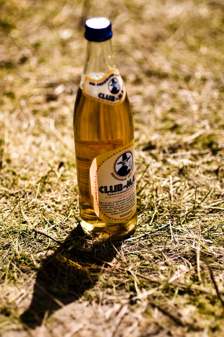 """""""Club Mate"""" ! A drink with a lot of caffeine which is very popular in Berlin and is an alternative to the chemical energy-drinks like redbull beecause it`s all natural."""