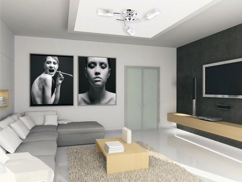 nowoczesne oświetlenie kinkietowe salon - Szukaj w Google