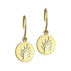 Julie Sandlau CLASSIC øreringe i sølv med 22 karat forgyldning