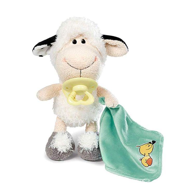Nici peluches online. Peluche oveja bebé Jolly Netty de Nici. Colección Jolly Mäh. Suave al tacto y original diseño. Calidad materiales. Medidas 25x17x14 cms.