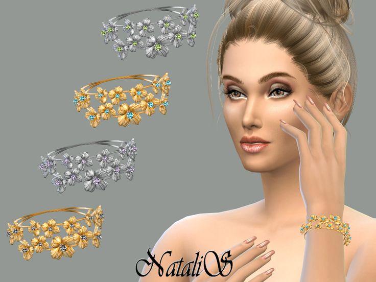 NataliS_Hoop flower bracelet FT-FE