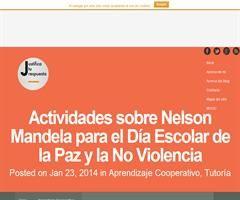 Actividades sobre Nelson Mandela para trabajar el Día Escolar de la Paz y la No Violencia.