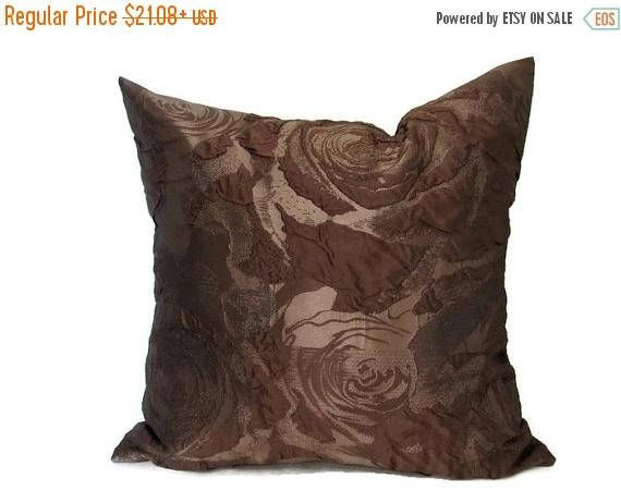 20% off Brown Pillow Brown Pillows  Brown Bed Pillow Brown