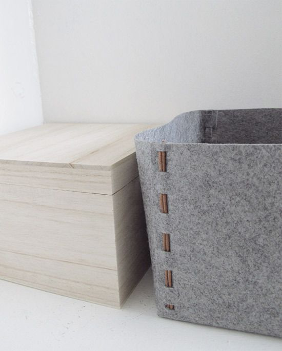 How to: Make a DIY No-Sew Felt Storage Box