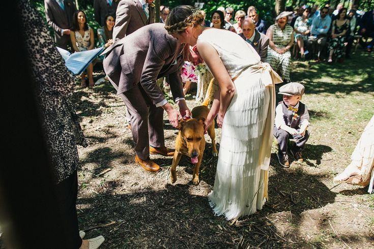 The couples pet was their ring bearer.  Images by Sally T Photography