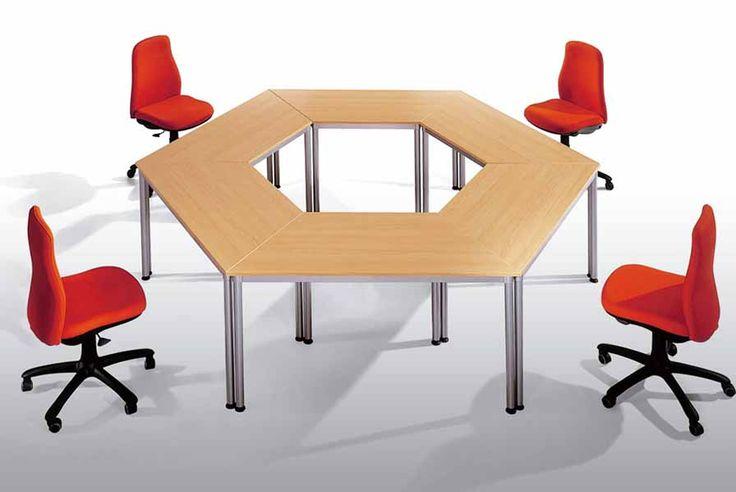 http://spacio.es/mobiliariodeoficina/mesasdeoficina/mesa-dynamic/  Mesa Dynamic para reuniones informales.