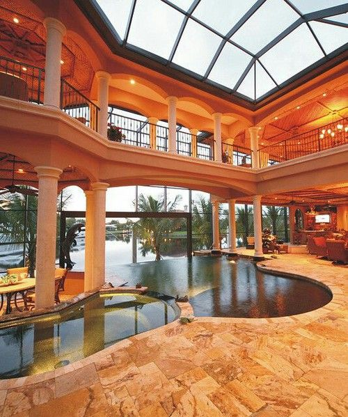 My future house will have an indoor pool room like this.
