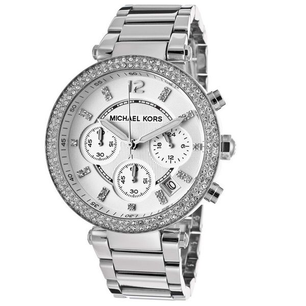 Michael Kors Women's MK5353 Crystal Bezel Chronograph Watch