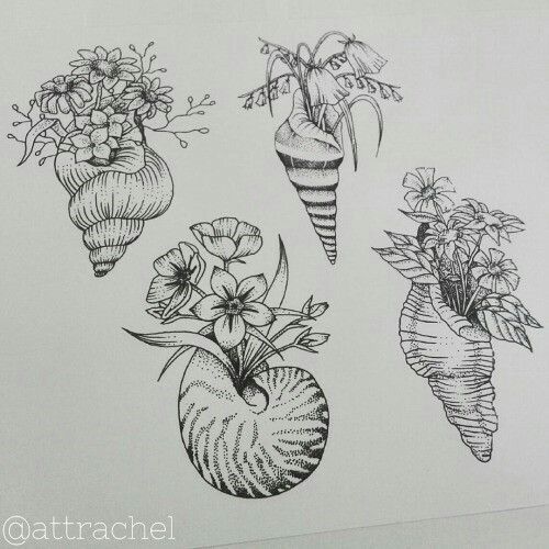Image result for shell tattoo