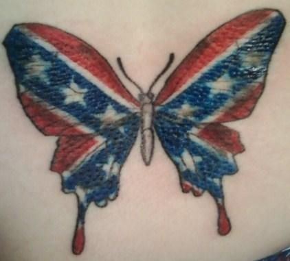 Rebel Flag Butterfly Can you get anymore white trash?