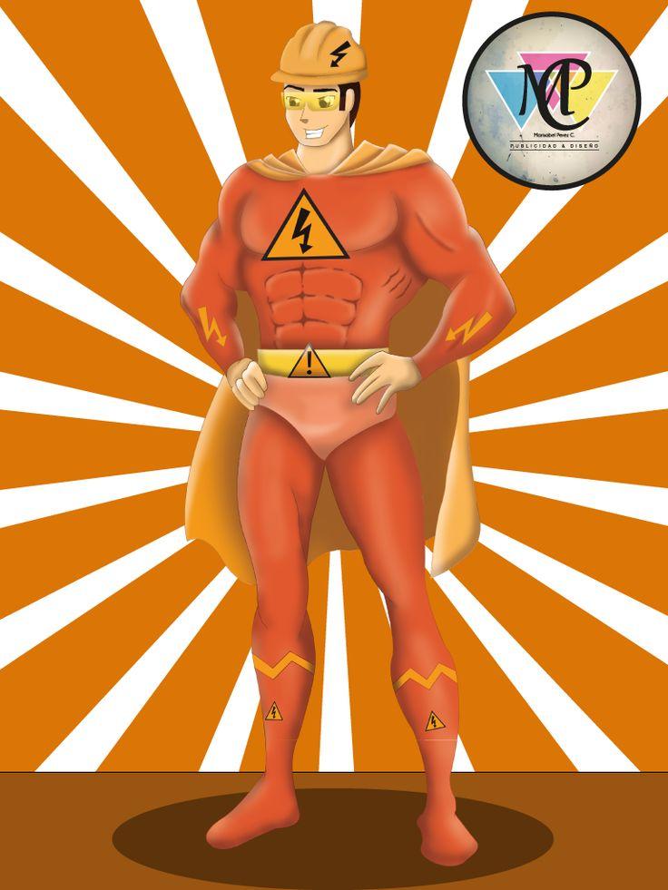 #Superhero #Orange #Photoshop #illustrator #Design #Character