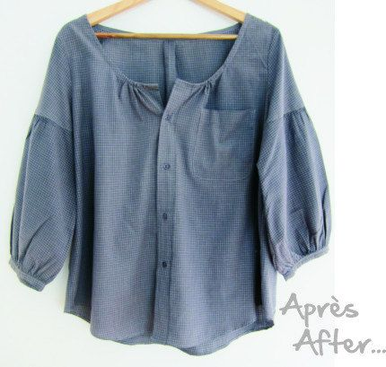 Refashioned button down shirt....like this idea