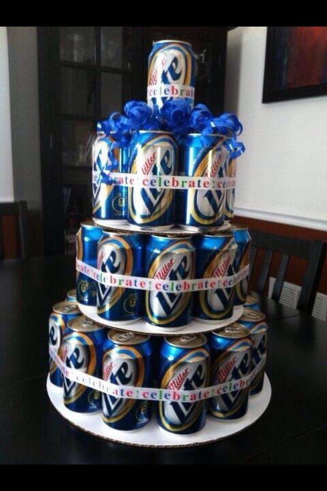 Beer cake!! I'm definitely going to surprise him with this cake right before the wedding! Groom's cake! But with Mexican beers!