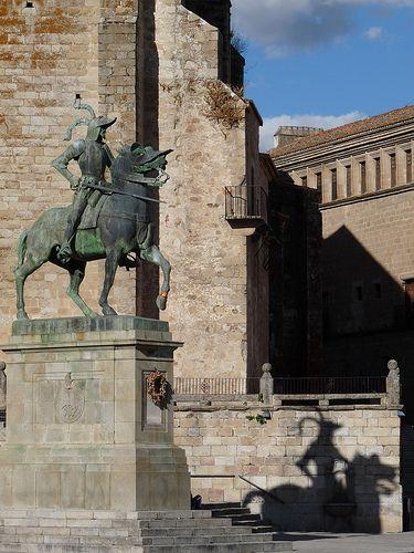 Estatua de Francisco Pizarro en Trujillo. Cáceres