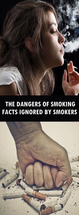the dangers of smoking For example, smoking deprives the living skin tissue of oxygen by causing constriction of the blood vessels as a result, blood doesn't get to your organs as easily, and that includes the skin.