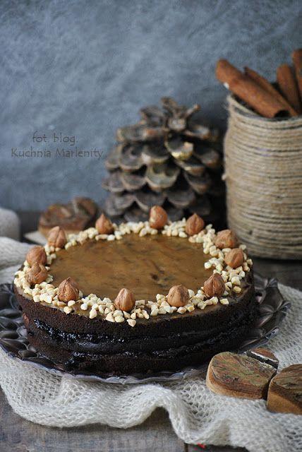 Ciasto czekoladowo-pomarańczowe z kremem ze śliwek kalifornijskich