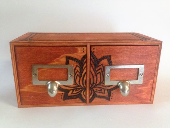 Lotus Storage Drawers by SCBoutique123 on Etsy