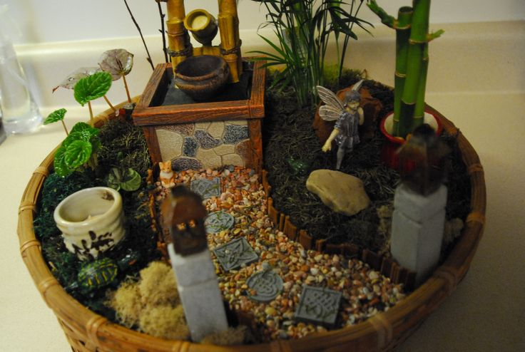 Another view of the asian themed fairy garden in re for Japanese themed garden ideas