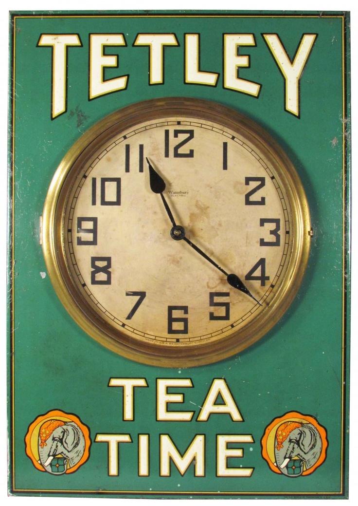 Tetley Tea Time Embossed Tin Clock
