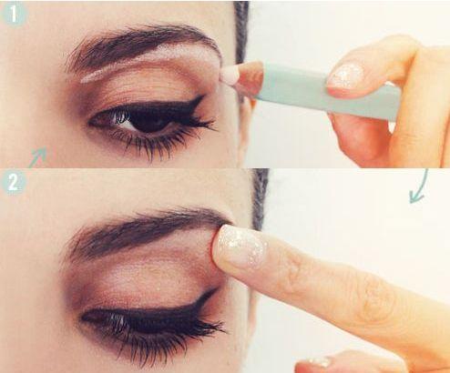 Kaşlarınızın daha kalkık görünmesini istiyorsanız kaşınızın hemen altına ince bir tabaka beyaz kalem uygulayıp parmağınızla dağıtın. - Sayfa: 10