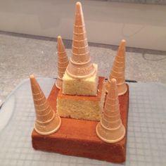 birthday girls princess castle cake - So far so good. Inspiration from the Betty Crocker boys and girls cookbook