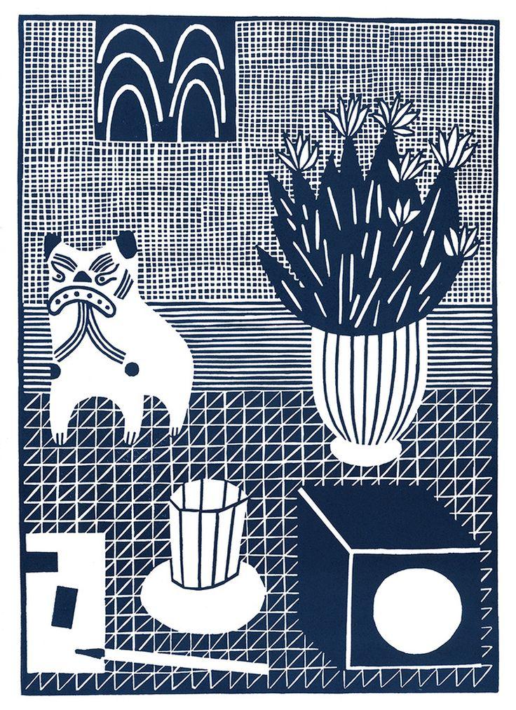 Stilleben mit tier #Illustration by Katrin Stangl