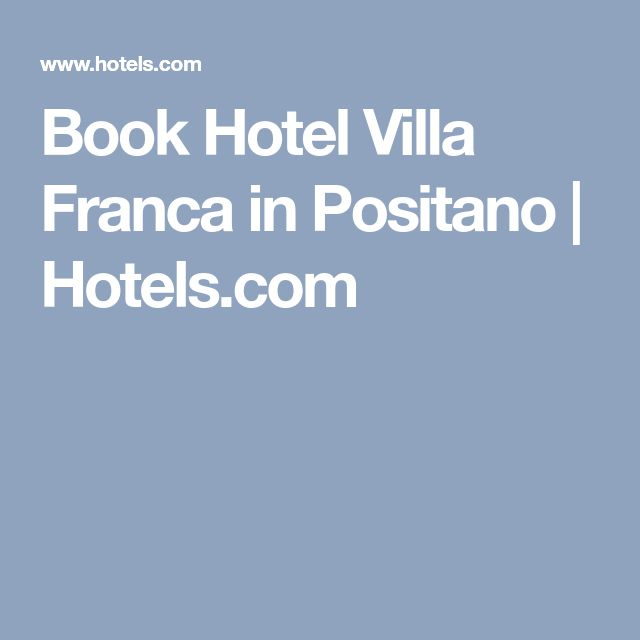 Book Hotel Villa Franca in Positano | Hotels.com