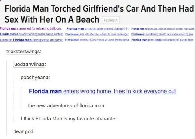 The chronicles of Florida Man